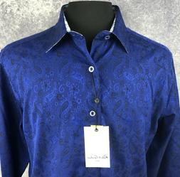 2xl shirt mens paisley navy sleek classic