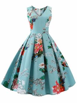 50'S Vintage Plus Size Rockabilly Swing Dress Pinup Costumes