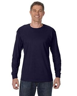 Hanes 5586 6.1 oz Tagless Long-Sleeve T-Shirt - Maroon - L