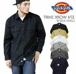 Dickies 574 Mens Long Sleeve Work Shirt Button Front Formal