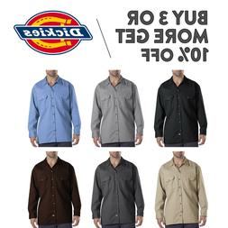 DICKIES 574 MENS WORK SHIRT LONG SLEEVE BUTTON UP SHIRTS WOR