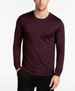 $75 32 Degrees Cool Men's Red Stretch Lux Crew-Neck Long Sle