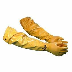 "Atlas 772 Large Nitrile Chemical Resistant Gloves, 25"", Yell"