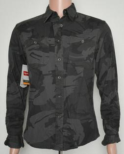 Wrangler #8283 NEW Men's Slim Fit Camo Button Front Long Sle