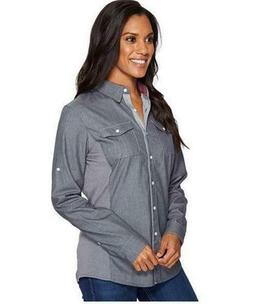 KUHL 8320 Women's Kiley Long Sleeve Button Up Shirt w/ Contr
