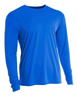 A4 Youth Cooling Performance Crew Long Sleeve T-Shirt, Royal