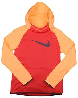 NIKE Girl's Dri-Fit Thermal Pullover Hooded Sweatshirt Red O