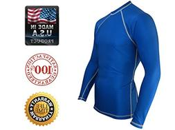 Rash Guard for Men Compression and Base Layer Shirt,  Black,