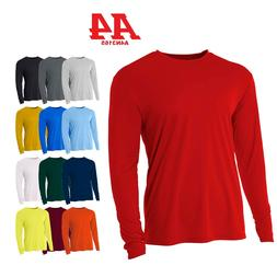 A4 Men's Moisture Wicking Tech Long Sleeve Resistant T-Shirt