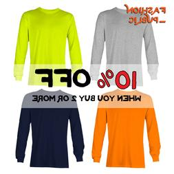 AAA ALSTYLE 1304 MEN'S PLAIN LONG SLEEVE T SHIRT CASUAL COTT