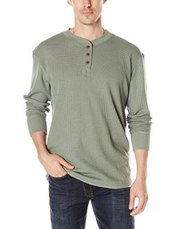 Wrangler Authentics Men's Long Sleeve Waffle Henley, Sea Spr