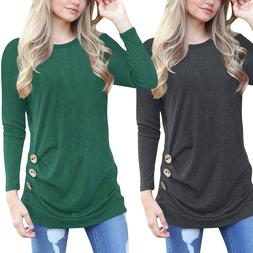 Autumn Women's Loose Long Sleeve Cotton Casual Blouse Shirt