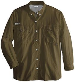 Columbia Men's Bahama II Long Sleeve Shirt, 5X, SAGE