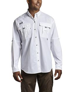 Columbia Men's Bahama II Long Sleeve Shirt, Sail, Small