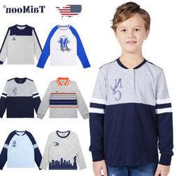 Baseball T-shirt Long Sleeve Cartoon Cotton Tee Tops Costume