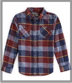 First Wave Big Boys 8-20 Long-Sleeve Check Flannel Sport Shi