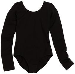 Sansha Big Girls' Suzanna Long Sleeve Leotard, Black ,Large/
