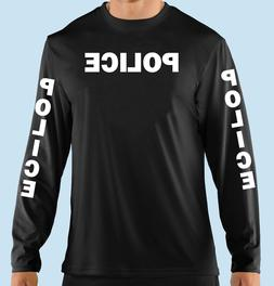 Black Long Sleeve T Shirt, Police, Professional, Business, 1