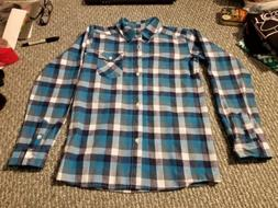 Bienzoe Boys Flannel Shirt, Sz 11-12