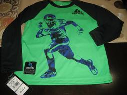BOYS ADIDAS FOOTBALL CLIMALITE LONG SLEEVE T SHIRT SIZE 4T G