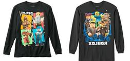 Boys Long Sleeve Roblox Character Logo Top Tee T-Shirt 8,10-