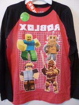 Boys M 10-12 Long Sleeve Roblox Characters Top Tee T-Shirt R