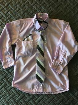 Boys Size 8 Berlioni Long Sleeve Oxford Shirt- Lavender