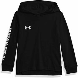 Under Armour Boys Youth Pull Over Long Sleeve Hooded Shirt -