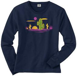 Cactus Desert Graphic Women's Long Sleeve T-Shirt Summer Vac