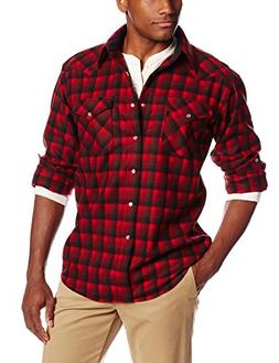 Pendleton Men's Canyon Shirt, Red/Black Ombre, X-Large