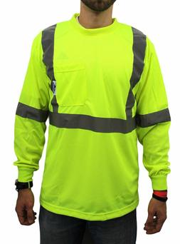 Class 2 Max-dry Moisture Wicking Mesh Long Sleeve Safety T-s
