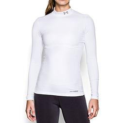 Under Armour Women's ColdGear White Fitted Mock Shirt