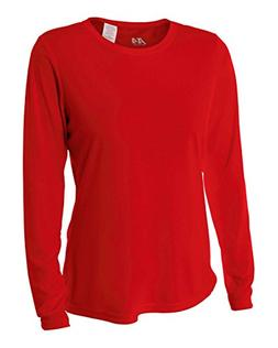 A4 Women's Cooling Performance Crew Long Sleeve T-Shirt, Sca
