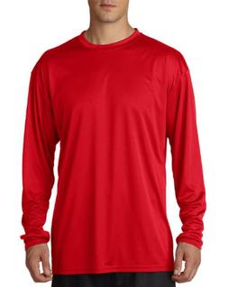 A4 Men's Cooling Performance Crew Long Sleeve T-Shirt, Scarl