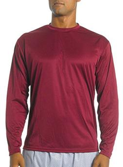 A4 Men's Cooling Performance Crew Long Sleeve T-Shirt, Cardi