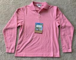 Coolibar Coral Pink UPF 50+ Classic Long Sleeve Polo Shirt W