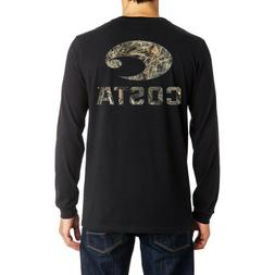 COSTA Long Sleeve Shirt Logocamo MENS Small Black MAX5 costa