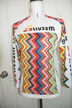 Mzcurse cycling Shirt Size Small NWT Long Sleave Multi Color