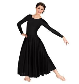Body Wrappers Women s Worship Long Sleeve Dance Dress  8446907e8