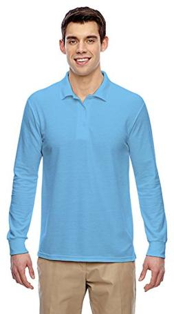 Gildan Mens Drybelnd Double Pique Long-Sleeve Polo G729 -LIG