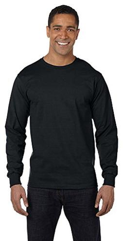 Gildan DryBlend 5.6 oz., 50/50 Long-Sleeve T-Shirt, 3XL, BLA
