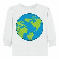 Inktastic Earth Toddler Long Sleeve T-Shirt Planet Space Out