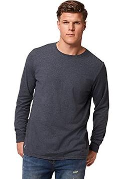 Russell Athletic Men's Essential Long Sleeve Tee, Black Heat