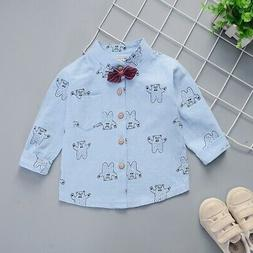 Fall Baby Boys Long-Sleeve Cartoon Dog Print T-Shirts Tops T