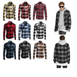 FashionOutfit Flannel Plaid Checkers Long Sleeve Button Down