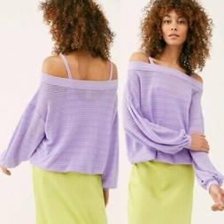 Free People Flowy Blouson Sleeves Sistine Cold Shoulder Hacc