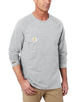 Carhartt Men's Force Cotton Long Sleeve T-Shirt,Heather Gray