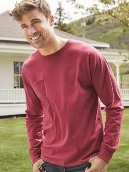 ComfortWash by Hanes - Garment Dyed Long Sleeve T-Shirt With