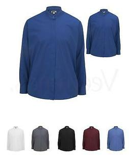 Edwards Garment Men's Long Sleeve Banded Collar Shirt, 1396,