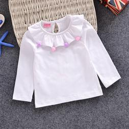 girl t shirts cotton long sleeve bottoming